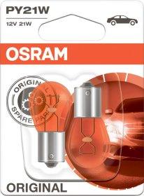 Automobilinė lemputė OSRAM 21W/12V/BAU15S L7507-02B  Gabaritinė, stabdžių, posukių, geltona,