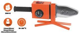 Plastikinių vamzdžių suvirinimo aparatas HERVIN TOOLS PW-2000W galia 2000 W, 7 galvutės 16-63 mm