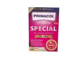 Tapetų klijai  PRIMACOL Special, 200 g Klijai sukurti specialiai sunkiems tapetams,