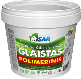 Polimerinis - lateksinis glaistas SAR, su kreidos užpildu, 8 kg (kibire)