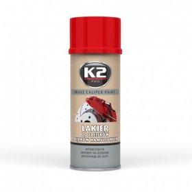 Stabdžių apkabos dažai, K2, Caliper, 400ml., raudoni
