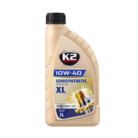 Variklinė alyva K2 10W-40, 1l,  pusiau sintetinė