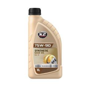 Variklinė alyva K2 75W-90 GL-5, 1l, pavarų dėžei