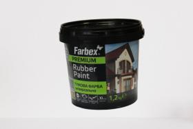 Gumos pagrindo dažai FARBEX FARBA GUMOVA, 1,2 kg, matiniai, baltos sp.