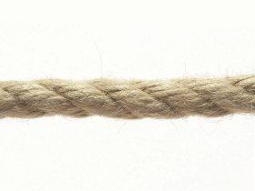 Daugiapluoštė virvė, 6mm × 20m, susukta, tamsiai rudos spalvos