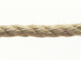 Daugiapluoštė virvė, 40mm, susukta, tamsiai rudos spalvos