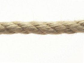 Daugiapluoštė virvė, 6mm, susukta, tamsiai rudos spalvos