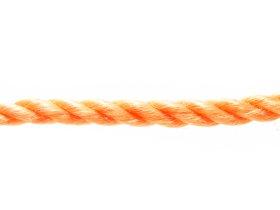 Suktas polipropileninis lynas, 10mm, ritinys, 25m, oranžinės spalvos