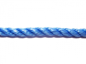 Suktas polipropileninis lynas, 6mm, ritinys, 30m, mėlynos spalvos
