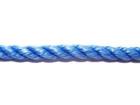 Suktas polipropileninis lynas, 8mm, ritinys, 20m, mėlynos spalvos