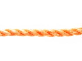 Suktas polipropileninis lynas, 8mm, oranžinės spalvos