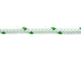 Poliesterio lynas, 8mm, supintas, baltos /žalios spalvos