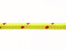 Pinta poliesterio virvė, 8mm, geltonos /rausvos spalvos