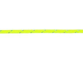 Pintas poliesterio lynas, 3mm, geltonos spalvos, atspindintis šviesą