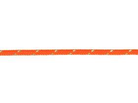 Pintas poliesterio lynas, 3mm, oranžinės spalvos, atspindintis šviesą