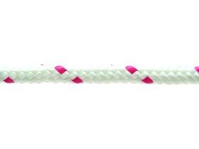 Pinta poliesterio virvė, 10mm, raudonos /baltos spalvos