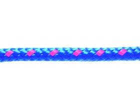 Polipropileninė dengtoji virvė, pinta, 10 mm, mėlynos spalvos