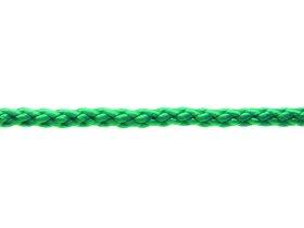 Pintas polipropileninis lynas, 8mm × 15m, žalios spalvos