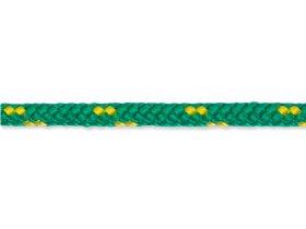 Pintas polipropileninis lynas, 5mm, ritinys, 20m, žalios/geltonos spalvos