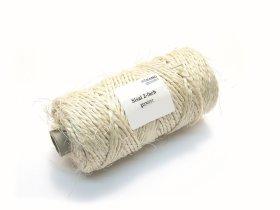 Sizalio pluošto virvė 3mm, kamuolys 150m, susuktas, natūralios spalvos