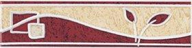 Plytelių keraminis dekoras ZALAKERAMIA KAPRI GENOVA SZ5 5 x 20 cm, 20 vnt/dėž., kilmės šalis Vengrija