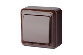 Jungiklis LIREGUS DELTA 1 klavišo, paviršinis, rudos spalvos, PJ1 10-001 R
