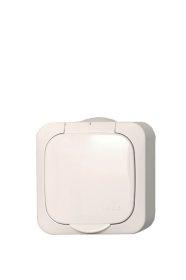 Kištukinis lizdas HERMI IP44 PKL16-008 HERMI, baltos sp.