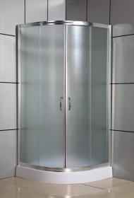 Dušo kabina COMBO PORTO DN-033C, 80 x 80 x 185 cm, pusapvalė, matinis grūdintas stiklas, be padėklo, Kinija