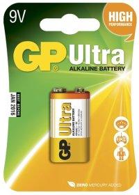 Maitinimo elementai GP Ultra 9 V, 6LR61, 9 V, 1604 AU-UE1,