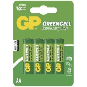 Maitinimo elementai GP GREENCELL, 4 vnt., AA, R6, 1,5 V, 15 G-UE4