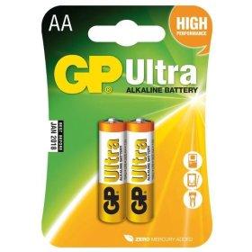Maitinimo elementai GP Ultra, 2 vnt. AA, LR6 1,5V, 15 AU-UE2,