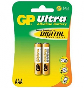 Maitinimo elementai GP Ultra, 2 vnt. AAA, LR03