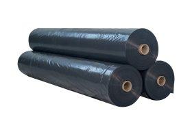 Polietileno plėvelė   Storis 150 mk, plotis 6 m, statybinė, juoda