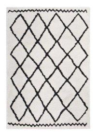 Kilimas TEP MIA, 120 x 170 cm, kreminės spalvos, rombai, 100% polipropilenas, Turkija, N