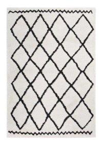 Kilimas TEP MIA, 160 x 230 cm, kreminės spalvos, rombai, 100% polipropilenas, Turkija, N