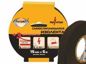 Izoliacinė juosta AVIORA, 15 mm x 5 m, juodos sp., limpa esant neigiamai temperatūrai