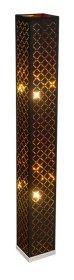 Toršeras GLOBO CLARKE, E27, 2 x 40W, 230V, matinio nikelio sp., aksomas juodos/auksinės sp., su jungikliu, 150 x 150 x 1180 mm, 15229S2