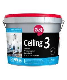 Vandeniniai dažai luboms Vivacolor Ceiling 3 AP 2,7L, balti, visiškai matiniai