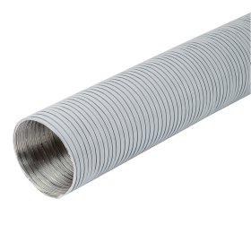 Ortakis EUROPLAST, d100, 1,5 m, gofruoto aliuminio, baltas, G100B-1.5