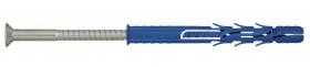 Nailoninis kaištis su sraigtu Torx 40, 10 x 240 RAWLPLUG  Prailgintas, padidinto plėtimosi, sraigtas įleidžama galva.