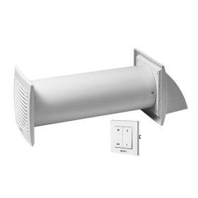 Sieninis rekuperatorius E-EXTRA, D100mm, su sieniniu jungikliu
