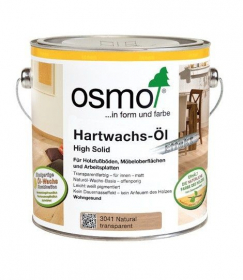 Medienos aliejus su kietaisiais vaškais OSMO Natural Effect 3041, skaidrus naturalus, 2.5 l