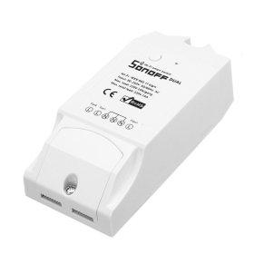 Išmanusis jungiklis SONOFF DUAL, dviejų kanalų, 3500 W, 230 V, Wi-Fi, valdomas programėle, galima valdyti balsu, IM160811001