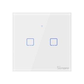 Išmanusis jungiklis SONOFF T2EU2C-TX, 2 kanalų, 480W/1 kanalui, 230V, valdomas liečiamu mygtuku, programėle, Wi-Fi, IM190314016