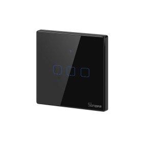 Išmanusis jungiklis SONOFF T3EU3C-TX, 3 kanalų, 240W/1 kanalui, 230V, valdomas liečiamu mygtuku, programėle, Wi-Fi, IM190314020