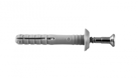 Greito montavimo nailoninis kalamas kaištis LAMIDA, T tipo, 6 x 40 mm, 200 vnt.
