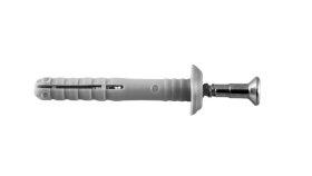 Greito montavimo nailoninis kalamas kaištis LAMIDA, T tipo, 6 x 80 mm, 14 vnt.