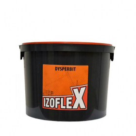 Dispersinė bituminė-kaučiukinė masė  IZOFLEX DYSPERBIT, 8 kg