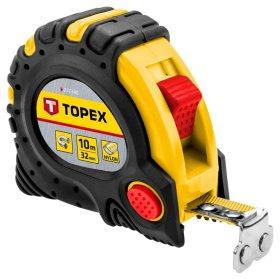 Ruletė TOPEX T27C340 10 m, 32 mm, magnetinė.