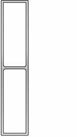 Stačiakampis lyginimo lotas BMI, 200 cm, 689200RL